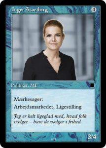 Kortspil om politik - et  undervisningsmateriale udviklet til ansættelsesweekenden af kommende lærer Tue Thinggaard