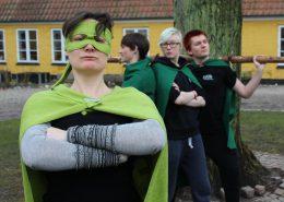 Fire superhelte arbejder for bæredygtighed på Efterskolen Epos