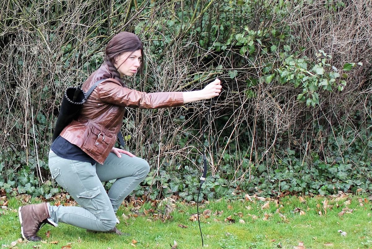 Kamilla cosplayer Katniss Everdeen fra filmen 'Hunger games'. På Epos skal Kamilla bl.a. udbyde aktiviteter for skolens cosplayere.